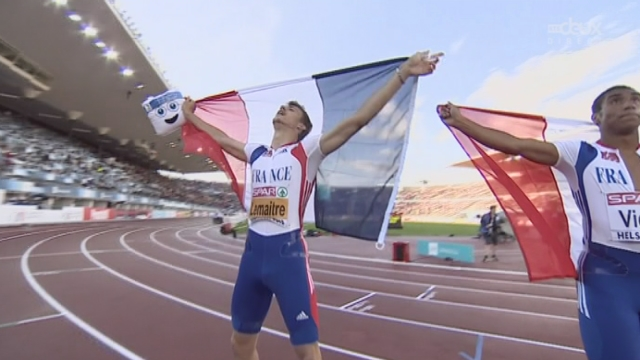 100m: Quelle course de Christophe Lemaitre qui l'emporte en 10''09 à Helsinki