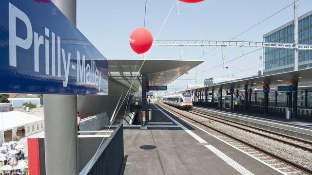 Six trains par heure et par sens s'arrêteront à cette halte dès 2019. [Sandro Campardo - KEYSTONE]