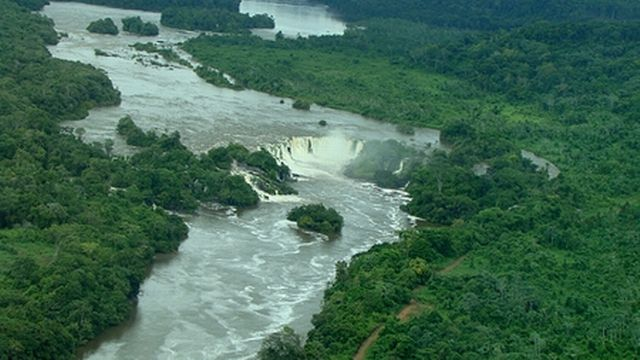 Vista aerea do Rio Jari [Wikicommons]