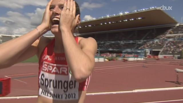 200m: Léa Sprunger a réussi une limite A qualificative pour le 200m des JO de Londres lors des séries.
