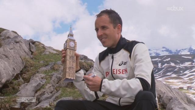 Marathon: le marathonien Viktor Röthlin (SUI) est en préparation pour les JO de Londres