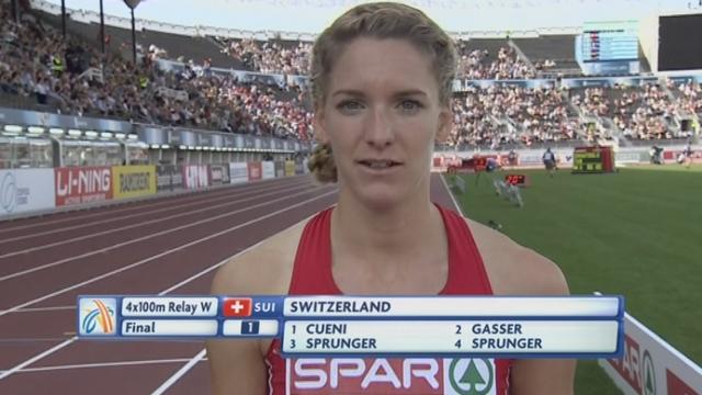 """Relais 4x100m dames: L'équipe de Suisse se qualifie pour les JO de Londres grâce à leur 6e place en 43""""61"""