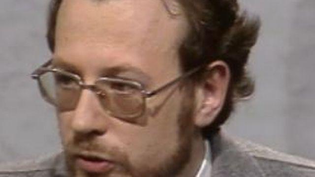 Christian Jacq en 1977.  [RTS]
