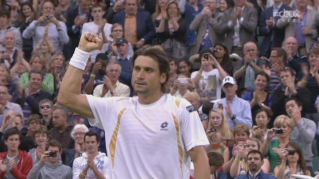 1/8, Ferrer - Del Potro. Un dernier break pour Ferrer et victoire méritée pour l'Espagnol 6-3,6-2,6-3.