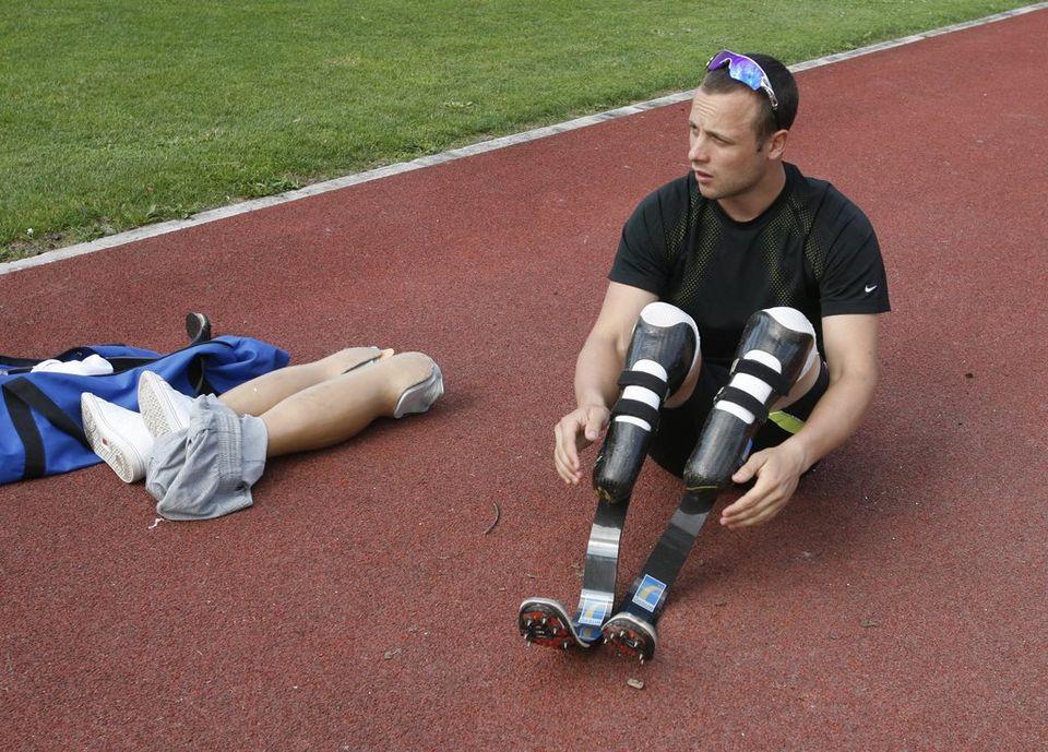 Pistorius court avec le même modèle de prothèses depuis 1996. [URS FLUEELER - Keystone]