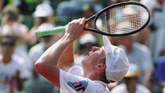Barcelone 1992: Marc Rosset décroche l'or au bout de sa raquette... [Keystone]
