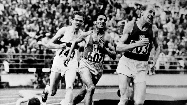 Helsinki 1952: Emil Zatopek va remporter un 5000m d'anthologie ce 26 juin. [AFP]