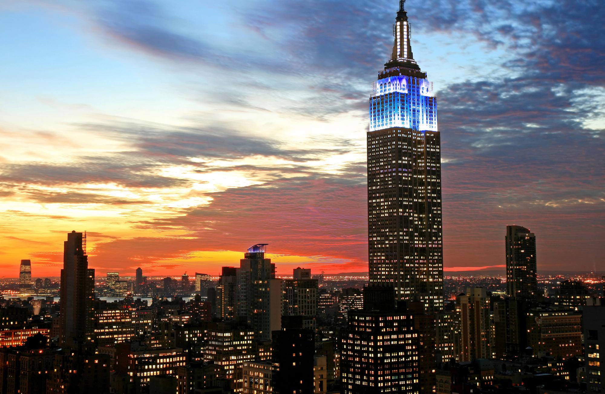 L'Empire State Building Se Rapproche D'une Introduction En