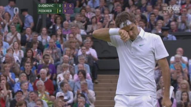 1/2, Federer - Djokovic. Et 1 set à 0 pour Roger! Le Suisse remporte 6-3 la première manche.