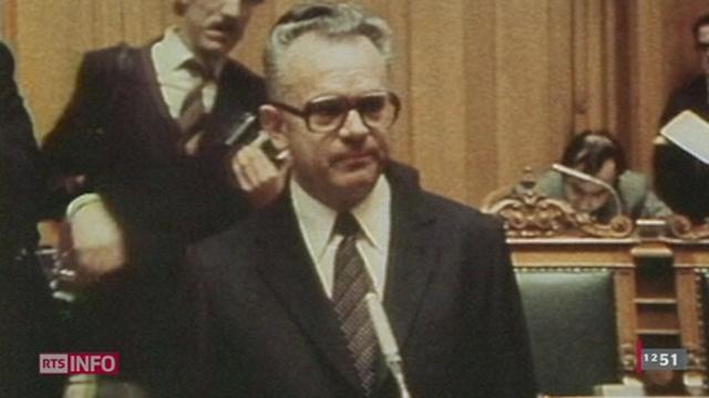 L'ancien conseiller fédéral Léon Schlumpf est décédé à l'âge de 87 ans