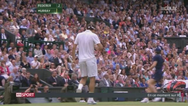 Finale: 4e manche. Federer fait le breaksur un magnifique point dans le 5e jeu