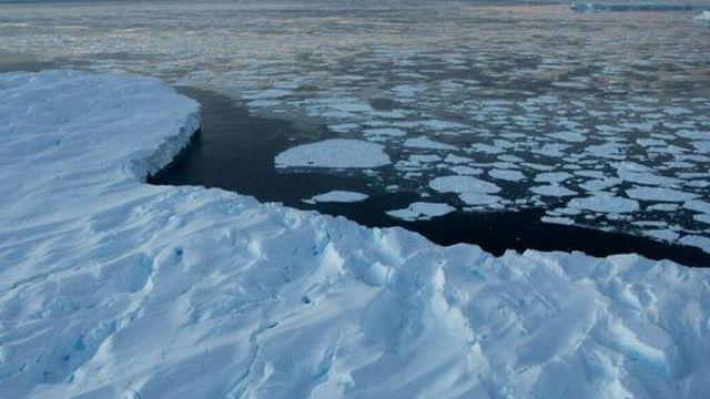 Des icebergs flottant à la surface sur le territoire antarctique australien [AFP]
