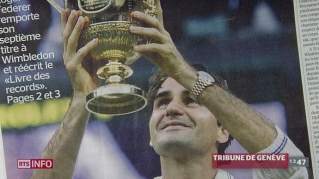 Tennis: la presse romande dans son ensemble salue l'exploit historique de Roger Federer à Wimbledon