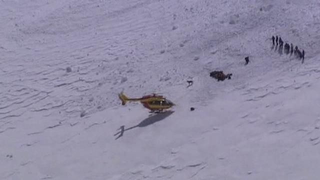 Images des opérations de secours au Mont-Blanc