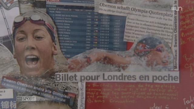 Objectif Londres (1/2): rencontre avec la nageuse genevoise Swann Oberson, championne du monde de nage en eau libre