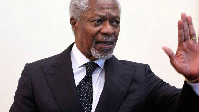 Kofi Annan est attendu lundi à Moscou. [Denis Sinyakov - Reuters]