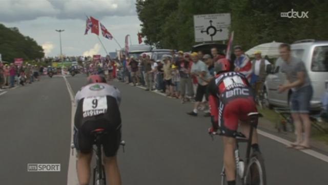 Cyclisme / Tour de France (19e étape): Bradley Wiggins a écrasé un peu plus la course en remportant le contre-la-montre entre Bonneval et Chartres