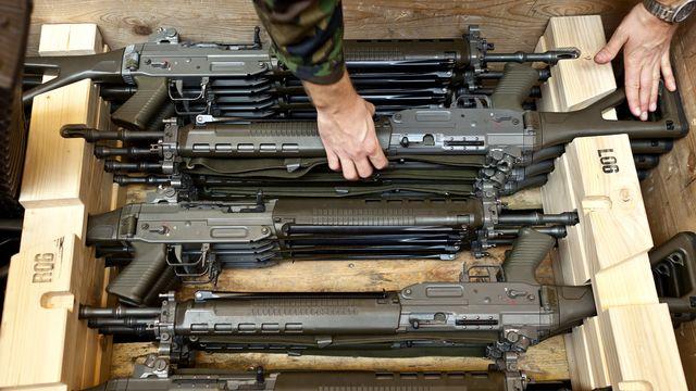 Arme de service fusil militaire suisse [Gaetan Bally - Keystone]