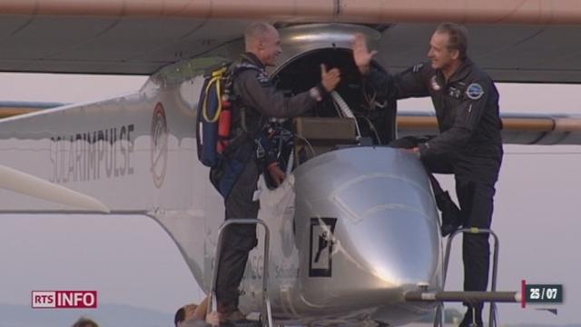 Deux mois jour pour jour après avoir quitté Payerne, Solar Impulse est rentré mardi soir de son voyage au Maroc