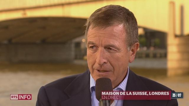 JO 2012: entretien avec Gilbert Felli, Dir. exécutif du CIO, depuis la Maison de la Suisse à Londres (2/2)