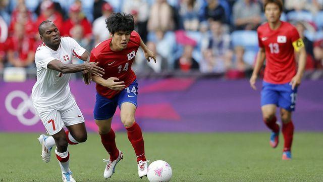Emeghara et ses coéquipiers n'ont pas été très inspirés face à la Corée du Sud.  [PETER KLAUNZER   - Keystone]
