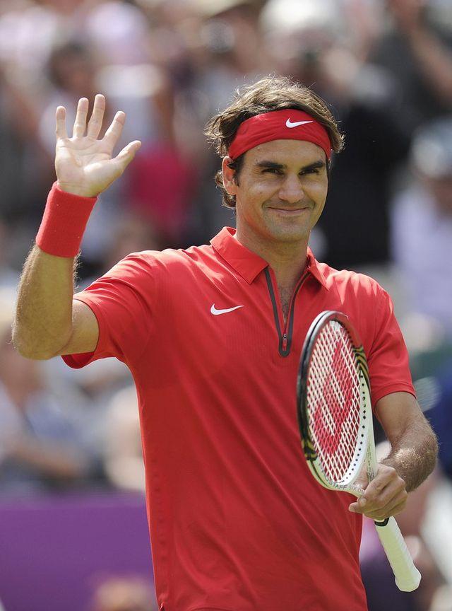 Federer s'est montré bien plus à son aise que lors de son entrée en lice face à Falla. [Jean-Christophe Bott - Keystone]