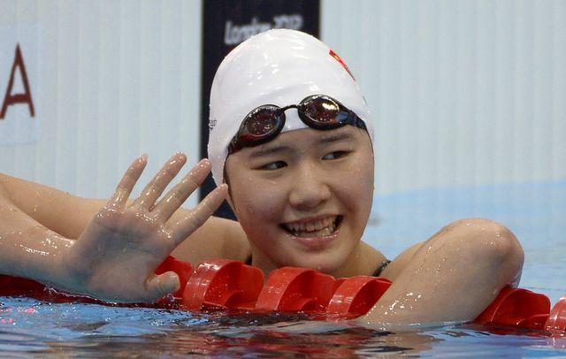 Les performances de la Chinoise Ye Shiwen sont au centre de toutes les discussions autour du bassin londonien. [Mark J. Terrill - Keystone]