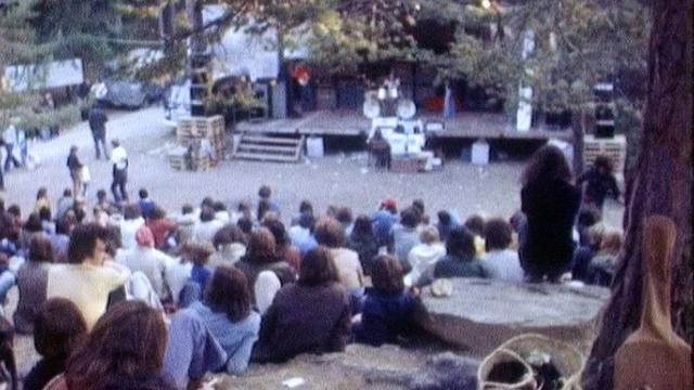 Festival de Sapinhaut dans les années 70. [RTS]