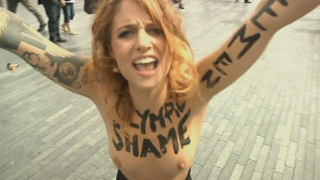Manifestation des Femen aux JO de Londres