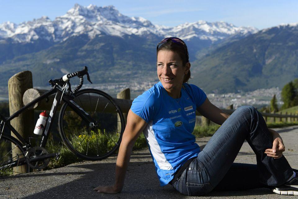 Triple championne d'Europe, Nicola Spirig vise un premier sacre olympique en triathlon. [LAURENT GILLIERON - Keystone]
