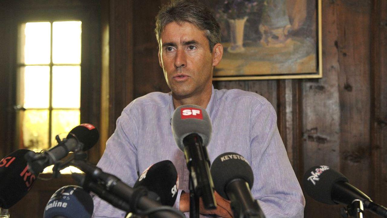Christian Varone lors de la conférence de presse qu'il a tenue ce vendredi 3 août 2012. [Maxime Schmid - Keystone]
