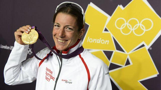 Triple championne d'Europe, Nicola Spirig a ajouté une médaille d'or olympique à sa collection. [LAURENT GILLIERON - Keystone]