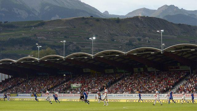 Sion recevait Bâle samedi soir en Super League. [Alessandro della Valle - Keystone]