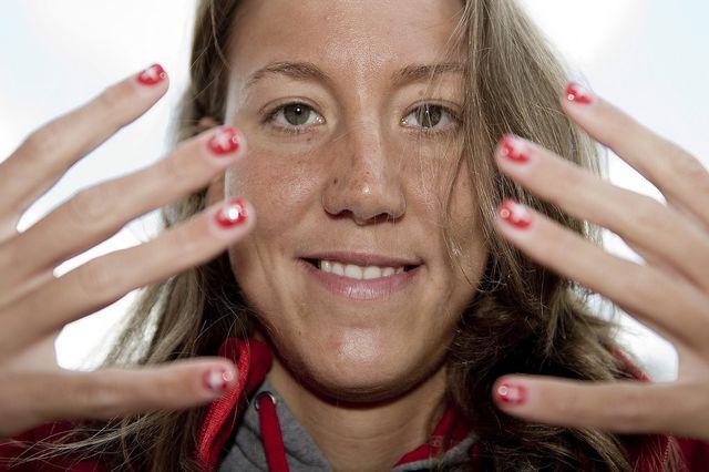 Swann Oberson est prête à défendre les couleurs suisses jusqu'au bout des ongles.  [JEAN-CHRISTOPHE BOTT   - Keystone]