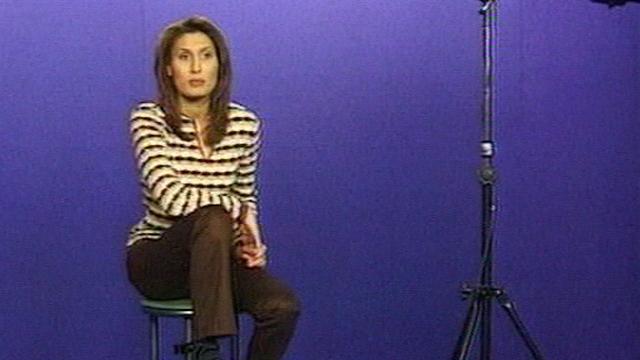 Première annonce de la nouvelle speakerine Ilham [TSR 1998]