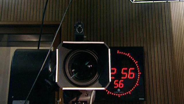Décompte avant l'annonce d'une speakerine [TSR 2001]