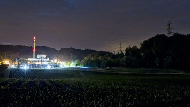 Muhleberg de nuit [ALESSANDRO DELLA BELLA - Keystone]