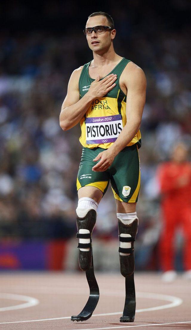 Pistorius n'a pas eu l'occasion de courrir lors des séries du relais 4x400m, mais il sera bien en finale vendredi. [Franck Robichon - Keystone]