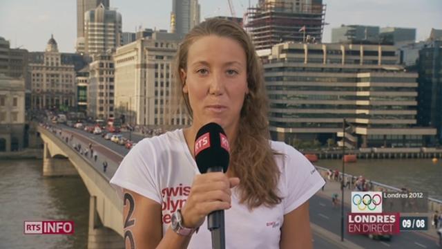 JO 2012 / natation 10km: la réaction de Swan Oberson depuis Londres, après sa course ratée