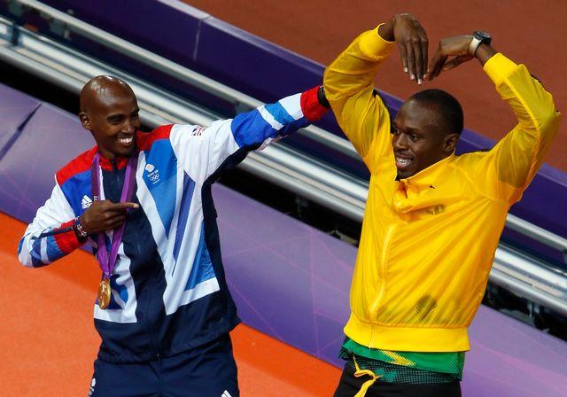 Mo Farah et Usain Bolt auront marqué les Jeux de leur empreinte. [Fabrizio Bensch - Reuters]