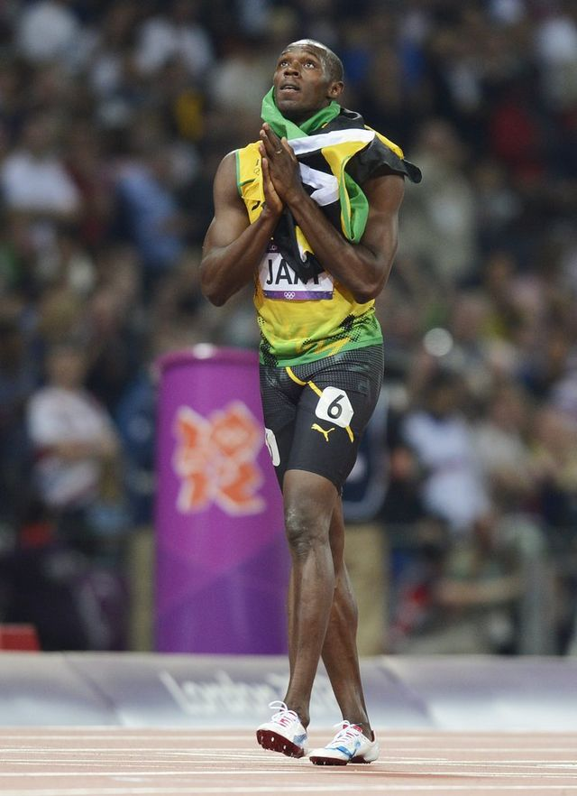 Bolt a décroché sa sixième médaille olympique. [Franck Robichon - Keystone]