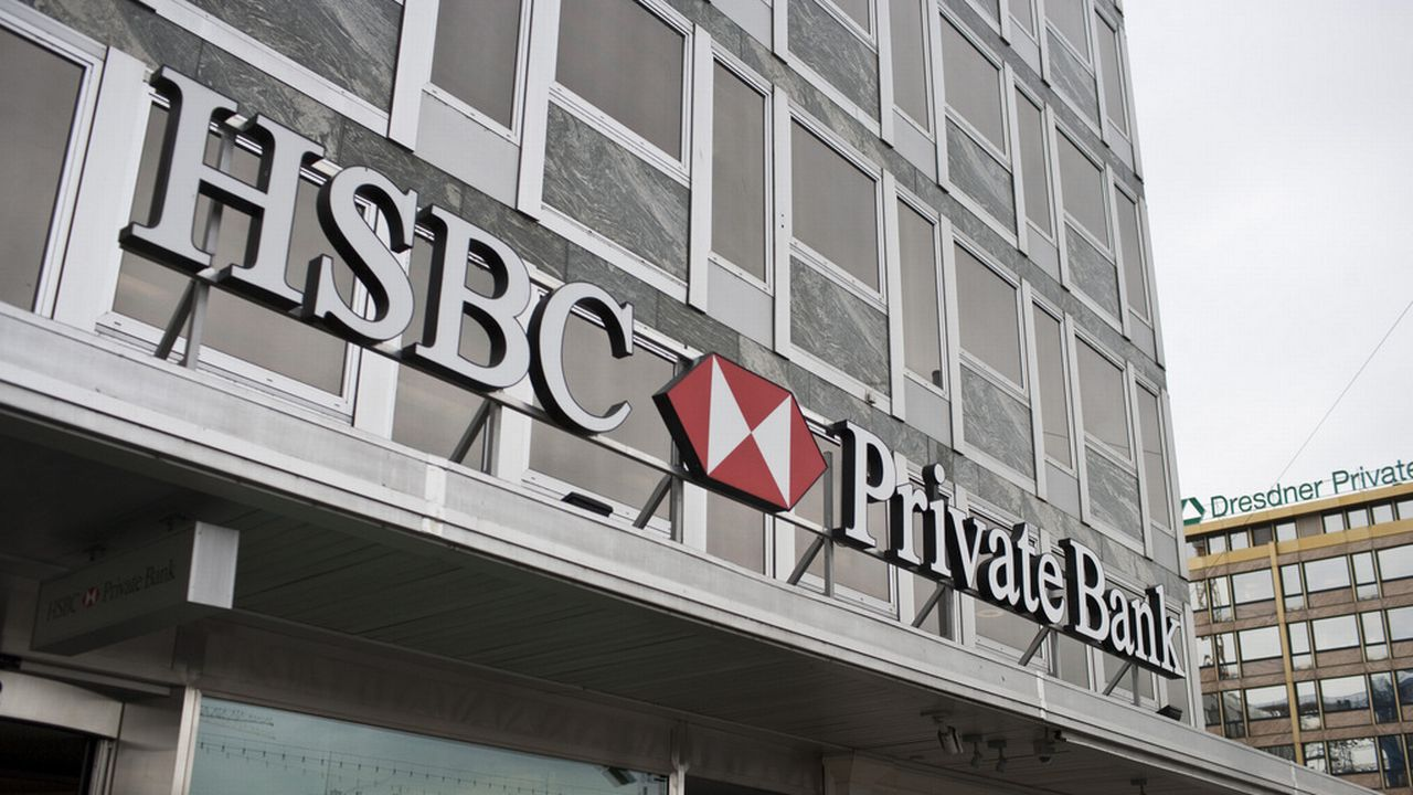 La filiale de HSBC Private Bank à Genève. [Gaetan Bally - Keystone]