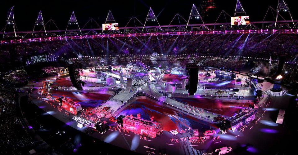 A l'image de la cérémonie d'ouverture, le spectacle a été au rendez-vous pour prendre congé des JO londoniens. [David J. Phillip - Keystone]