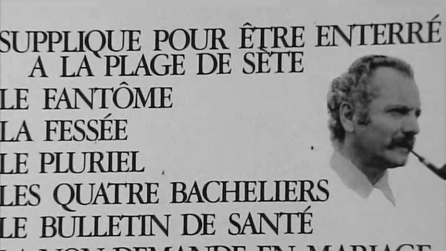 Georges Brassens en 1962. [RTS]