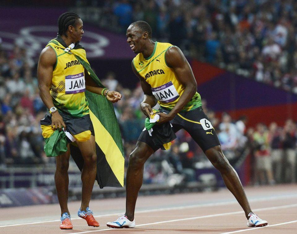 Yohan Blake et Usain Bolt partageront l'affiche à la Pontaise. [JOHN G.MABANGLO - Keystone]