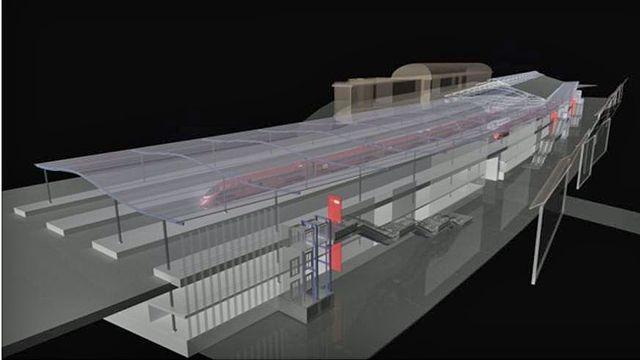 Vue du projet d'agrandissement des quais de la gare de Lausanne. [CFF]