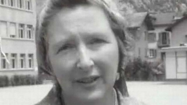 Corinna Bille en 1969 [TSR émission En marge 29.06.1969]