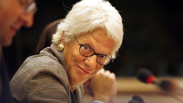 La Tessinoise Carla del ponte, ancienne procureure générale au tribunal pénal international pour l'ex-Yougoslavie. [Sébastien Pirlet - Keystone]