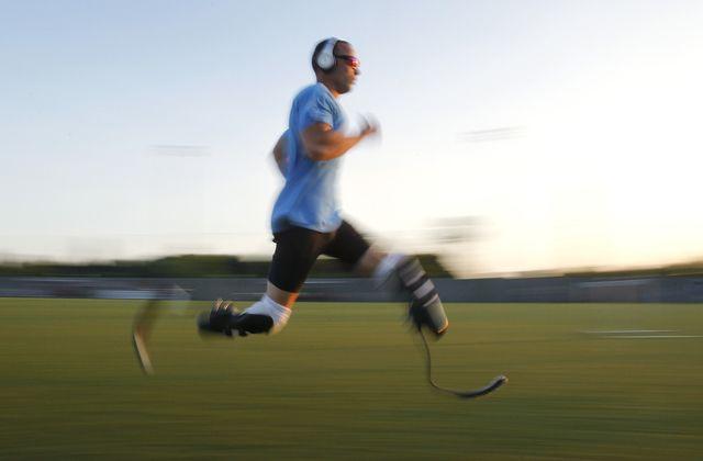 Le Sud-Africain Oscar Pistorius sera l'une des têtes d'affiches des Paralympiques 2012. [Alessandro Garofalo - Reuters]
