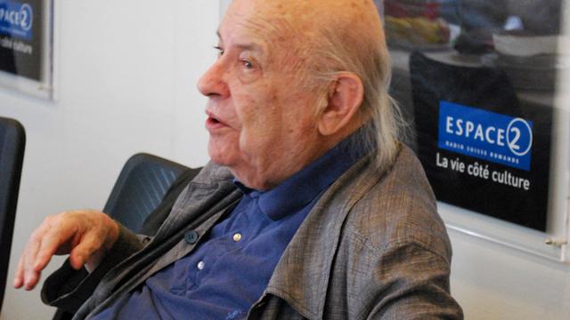 André Steiger dans les studios d'Espace 2 en 2010. [Anne-Sophie Subilia  - RTS]
